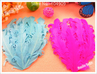 16pcs 8 Color Single Feather Flower Baby Girl Infant Hair Accessories Kid's Headwear For Headband No Haircip