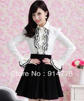 Женская юбка fashion skirt winter leopard print flower puff short skirt bust skirt q139