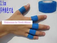 Free shipping 10rolls Self Adhesive Non Woven Cohesive Bandage 2.5CMX4.5M Protective Flex Finger Wrap Self Adhesive elastic tape