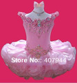 Free shipping organza mini/Above knee length beading ball gown cupcake flower girl dress/pageant girl dres FL-208