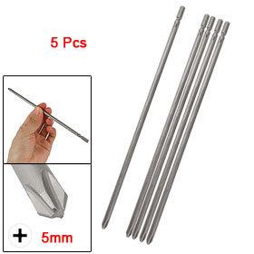 Round Shank 5mm Magnetic Phillips Screwdriver Bits 5 Pcs