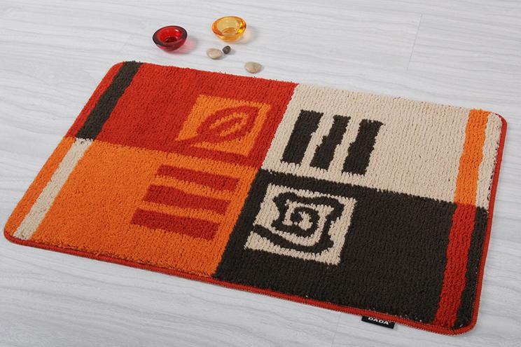 Free Shipping Popular Rectangle Porch Door Mat Bath Rug DA6648A-1 Wholesale and Retail(China (Mainland))