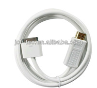 Free shipping 10pcs Dock Connector to HDMI 1080P Adapter 6ft Cable Converter for iPhone 4 4S iPad2 3 iTouch