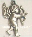 FREE SHIPPING 100pcs Tibetan silver Cupid charm A5278