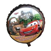 Racing Car Figure 18 Inch Round Helium Foil  Balloon(Cartoon design) BirthdayParty Dcoration, 50pcs/bag!!