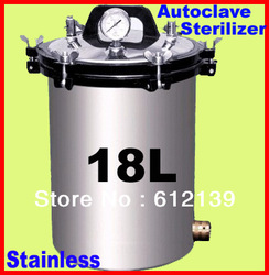 Free shipping 18L portable stainless steel pressure steam Autoclave sterilizer auto claves XFS-280A(China (Mainland))