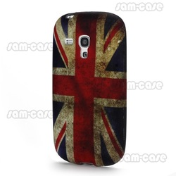 Vintage Union Jack Flag TPU Back Case for Samsung Galaxy S III / 3 Mini I8190 free shipping(China (Mainland))