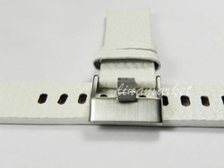 20mm (Buckle 18mm)Top-Grade Vogue White Thicken Genuine Leather Watchbands Strap TG112w(China (Mainland))
