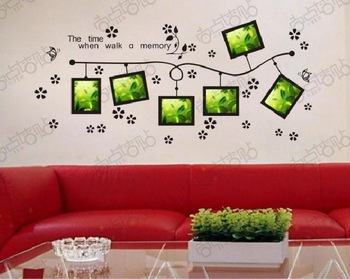 Memory Photo Frame Removable Vinyl Wall Art Word Stickers DIY 3D House Decoration Decals Quote Decorative Family Home