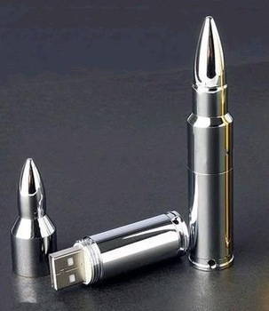 Silver Metal Bullet Shape Genuine USB 2.0 Flash Pen Drive Disk Memory Sticks 4GB 8GB 16GB 32GB 64GB Free Shipping
