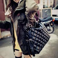 Зимние женские сумки Винтаж мешок плеча случайных Показать мешок большой мешок