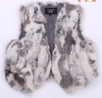 Free shipping lady Fashion  fur coat rabbit fur vest   fur waistcoat
