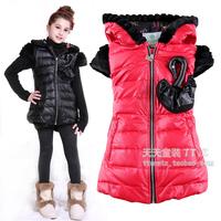 Children's clothing girls down vest,children winter waistcoat,nice design, 4 colors