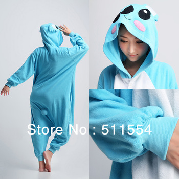 Free Shipping Christmas animal pajamas costume Fleece winter cartoon pajamas Koala cosplay costume kigurumi women sleepwear