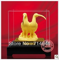 Rzlp F1114 gold gift  advanced 24K gold art  gift -wholesale hot sales -bird figurine on home hight Quality Gold Gift