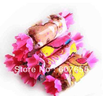 Christmas supplies Cartoon candy towel /children cartoon desgin gift hand towel 810pcs/lot DHL free shipping