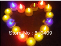 wholesale 12pcs  led gift night light led candle /led flashing candle free shipping
