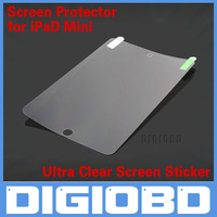 20pcs/lot Ultra Clear Screen Sticker Protector Film Guard for iPad mini free shipping