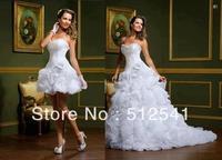 y-276 Elegant Two Pieces Beautiful Sweetheart Flower A-line Wedding Dress