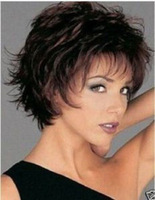 Beautiful women's Accessories short dark brown hair wig