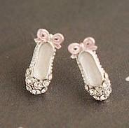 NANANA  jewlery store E117 full rhinestone-studded shoes stud earring free shipping
