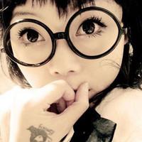 Y02 circle glasses frame eyeglasses frame eye box round