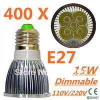 400pcs/lot CREE Dimmable LED High power E27 Base 5x3W 15W led Light led Lamp led Downlight led bulb spotlight Free shipping