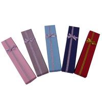 Paper box Free shipping  32 pcs 4.5 x 20 x2.5cm necklace box carton jewelry box gift box 4x20