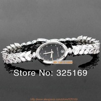 Free shipping hot sale Royal crown 2506B17 classic black and white oval dial gold plated noble style jewelry bracelet wristwatch