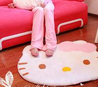 Free shipping 2014 Hot sale hello kitty rug Velvet mats Bedroom carpet parlour floorcloth Cartoon floor Decoration Lovely rug