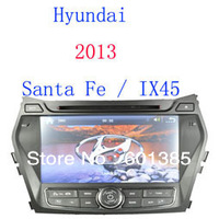 Car DVD for Hyundai santa fe 2013 IX 45 Russian memu with GPS Radio Bluetooth Virtual 6-CD RDS USB SD 4GB 2012 Map Free shipping