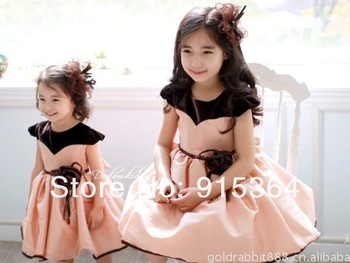 Coffee color of children's wear princess dresses ocean skirt princess skirt girls skirt