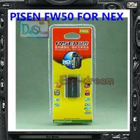 Genuine Pisen camera battery FW50 NP-FW50 for Camera NEX3 NEX-5C NEX5 NEX-5N NEX5N NEX-7 NEX7 NEX-C3 NEX-F3 NEX-5R NEX5R NEX6