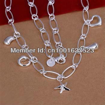 LQ-N188 Retail / wholesale Free Shipping 925 Silver fashion jewelry pendant Chain Necklace , 925 silver jewelry grpa piwa yafa(China (Mainland))