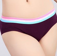 Fashion comfortable solid color mid waist 100% cotton female briefs panty female panties lovers panties 12 pcs/lot free shipping