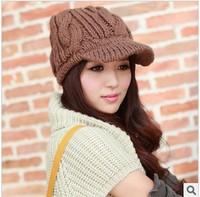Winter hat brim knitted hat thermal benn twist cap male women's lovers design hat