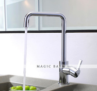 Fame High quality Solid Brass Kitchen Faucet with Swivel Spout - Chrome Bath & Kitchen store Free shipping