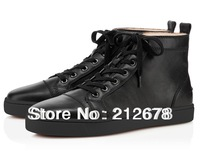 Free shipping black lace-up genuine leather man fashion boots plus size
