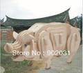 Free shipping --Blessing pig 3 d wooden simulation stereo DIY assembly model educational toys