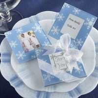 Snow Flake Blue Coasters(set of 2) for Wedding Decoration Party Favors Gifts Stuff Supplies Free Shipping Sale