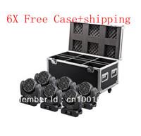 6pcs free flight case+free shipping  36*3W  RGBW CREE LED Beam Moving Head Light DMX512 12 channel Lighting
