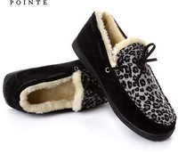 201211 clothing warm shoes leopard print shoes at home cotton-padded \slip-resistant casual  \ autumn and winter plush