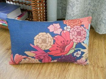 FREE SHIPPING oblong cotton linen throw pillow case cushion cover flowers for sofa chair car 50CMx30CM