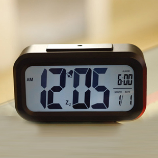 LED Alarm Clock+Snooze+Background Noctilucent Light