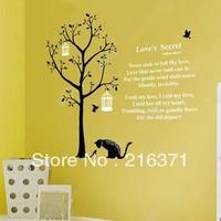 DIY Romantic words Wall stickers wall covering bird cage entranceway wall/window stickers32x60cm fold