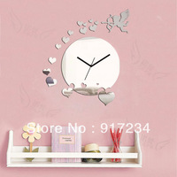 picture of the clock .Wall stickers wallpaper.personality art wall clock quartz DIY clock,Unique gift !Free shipping!