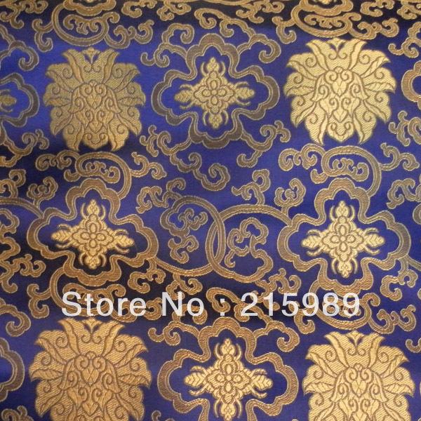 fabrics textile, Chinese silk tapestry satin,Auspicious flower(China (Mainland))