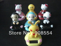 Free Shipping 12Pcs Per Lot   Head Swing Under Sunshine Or Lamp Light Solar  Novelty  Christmas  Gift