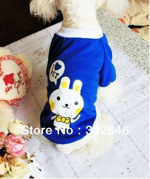 Free Shipping Sunshine lovely Rabbit Cotton Pet Dog Clothes T Shirt  Dog T Shirt Size S M L XL XXL