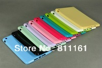 Hot New 50pcs/lot Candy Gloosy Solid White Soft Gel TPU Case Cover Skin for Apple iPad mini Accessory 10 Colors Free Shipping